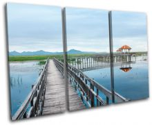 Lake Jetty Pier Sunset Seascape - 13-1555(00B)-TR32-LO